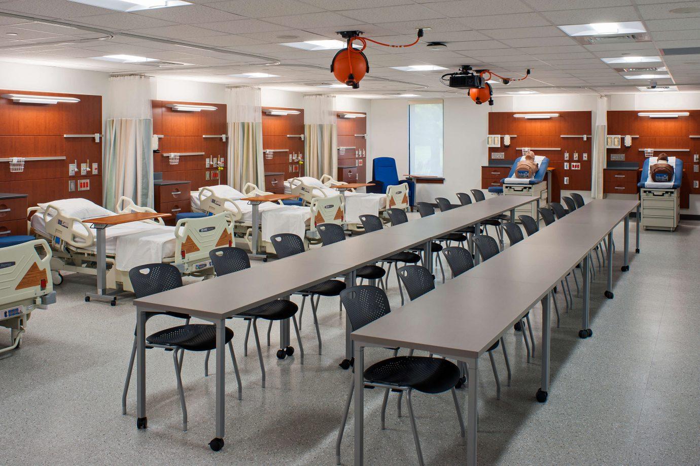 CCC Hamilton Blvd Building Nursing Simulation Suite Upofloor Quartz Tile